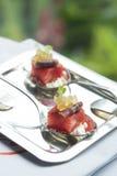 被分类的意大利开胃菜板材  免版税库存图片