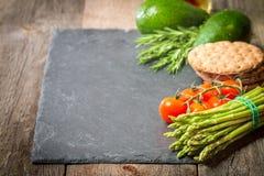 被分类的新鲜蔬菜框架或边界  库存照片