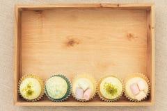 被分类的杯形蛋糕 库存图片