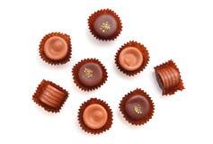 被分类的果仁糖 库存图片