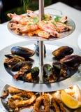 被分类的海鲜,大虾,淡菜,枪乌贼,选择聚焦, app 库存图片
