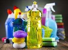 被分类的清洁产品 免版税库存照片