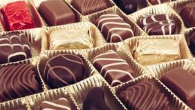 被分类的美好的巧克力 免版税库存图片