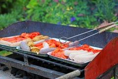 被分类的肉烤 免版税库存照片
