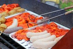 被分类的肉烤 库存照片
