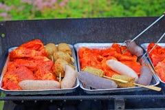 被分类的肉烤 库存图片