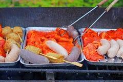 被分类的肉烤 免版税库存图片