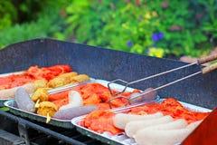 被分类的肉烤 免版税图库摄影