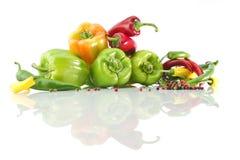 被分类的色的胡椒 免版税库存图片