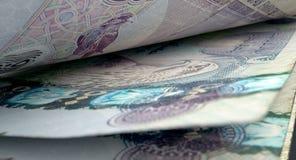 被分离的钞票特写镜头细节 库存照片