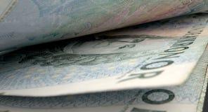被分离的钞票特写镜头细节 免版税库存照片