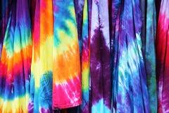 被分类的领带染料 库存照片