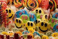 被分类的颜色candys 库存照片