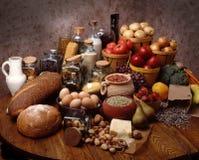 被分类的食物 免版税库存图片