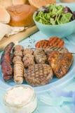 被分类的Barbequed肉 免版税库存照片