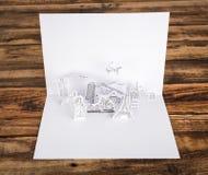 被切开的纸(日本、法国、意大利、纽约、印度,埃及) 免版税图库摄影