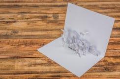 被切开的纸(日本、法国、意大利、纽约、印度,埃及) 免版税库存图片