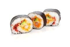 被切的寿司卷 库存图片