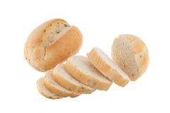 被切的法国面包卷 免版税库存图片