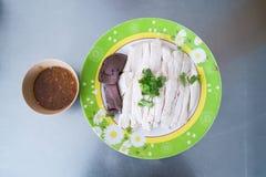 被切的海南式鸡 库存图片