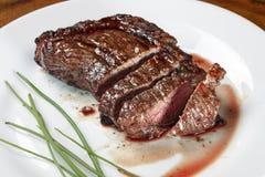 被切的烤肉 免版税图库摄影