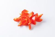 被切的甜椒红色 免版税库存照片