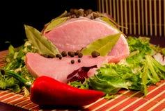 被切的肉原始 库存照片