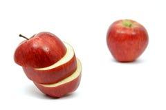 被切的苹果新红色 库存图片