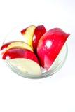被切的苹果红色 免版税图库摄影