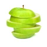 被切的苹果绿 库存图片