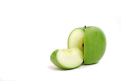 被切的苹果绿 免版税库存图片