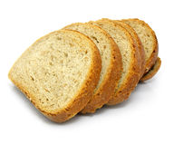 被切的被烘烤的面包新鲜 库存图片