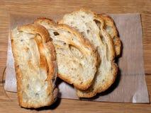 被切的面包可口 免版税库存照片