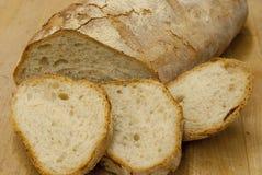 被切的面包新意大利语 免版税库存图片