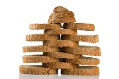 被切的面包褐色 免版税图库摄影