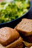 被切的面包褐色 库存照片