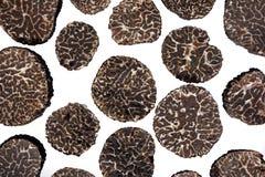 被切的黑truffes 免版税库存图片