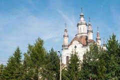 1824年被创办的大教堂工厂意味nevyansk责任人pyatiprestolny石变貌yakovlev Shadrinsk,俄罗斯 图库摄影