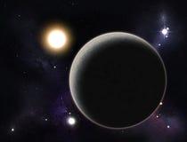 被创建的数字式行星starfield 免版税图库摄影