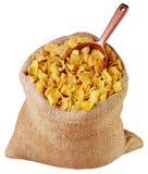 被删去的大袋玉米片 库存照片