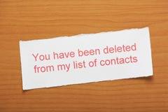 被删除的名单 免版税库存照片