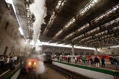 被到达的喀山火车站培训wwii 免版税库存照片