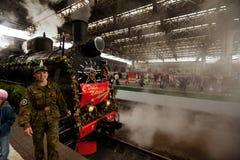 被到达的喀山火车站培训wwii 库存图片