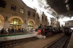 被到达的喀山火车站培训wwii 库存照片