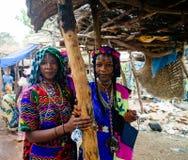 被刺字的Mbororo Wodaabe部落妇女勃利,喀麦隆亦称画象  库存照片