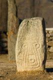 被刻记的竖石纪念碑石头 免版税库存照片