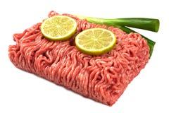 被剁碎的接近的肉准备准备好对 免版税图库摄影