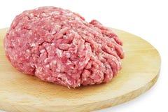 被剁碎的接近的肉准备准备好对 免版税库存照片
