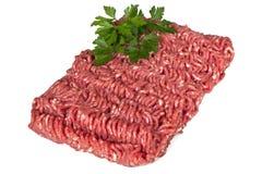 被剁碎的肉 免版税库存照片