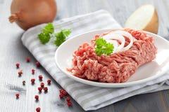 被剁碎的鲜肉 免版税库存照片